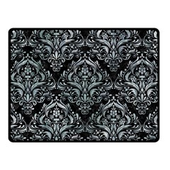 Damask1 Black Marble & Ice Crystals (r) Fleece Blanket (small) by trendistuff