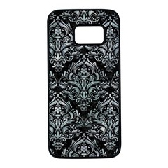 Damask1 Black Marble & Ice Crystals (r) Samsung Galaxy S7 Black Seamless Case by trendistuff