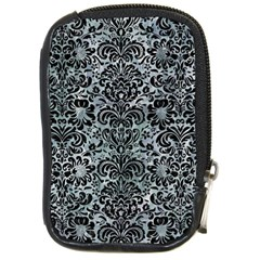Damask2 Black Marble & Ice Crystals Compact Camera Cases by trendistuff
