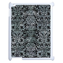 Damask2 Black Marble & Ice Crystals (r) Apple Ipad 2 Case (white) by trendistuff