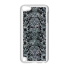 Damask2 Black Marble & Ice Crystals (r) Apple Ipod Touch 5 Case (white) by trendistuff