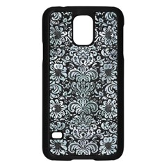 Damask2 Black Marble & Ice Crystals (r) Samsung Galaxy S5 Case (black) by trendistuff
