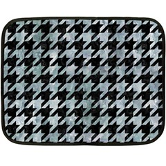 Houndstooth1 Black Marble & Ice Crystals Double Sided Fleece Blanket (mini)