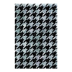 Houndstooth1 Black Marble & Ice Crystals Shower Curtain 48  X 72  (small)  by trendistuff