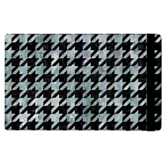 Houndstooth1 Black Marble & Ice Crystals Apple Ipad 3/4 Flip Case by trendistuff