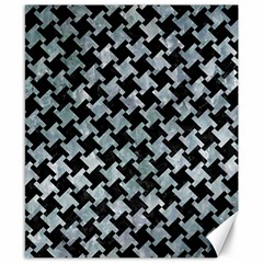 Houndstooth2 Black Marble & Ice Crystals Canvas 8  X 10  by trendistuff