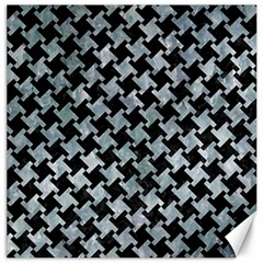 Houndstooth2 Black Marble & Ice Crystals Canvas 16  X 16   by trendistuff