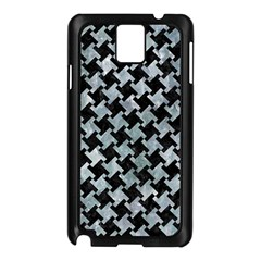 Houndstooth2 Black Marble & Ice Crystals Samsung Galaxy Note 3 N9005 Case (black)