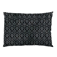 Hexagon1 Black Marble & Ice Crystals (r) Pillow Case by trendistuff
