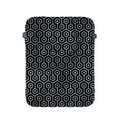 Hexagon1 Black Marble & Ice Crystals (r) Apple Ipad 2/3/4 Protective Soft Cases by trendistuff