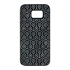 Hexagon1 Black Marble & Ice Crystals (r) Samsung Galaxy S7 Edge Black Seamless Case by trendistuff