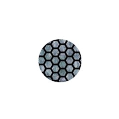 Hexagon2 Black Marble & Ice Crystals 1  Mini Magnets by trendistuff