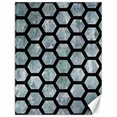 Hexagon2 Black Marble & Ice Crystals Canvas 12  X 16   by trendistuff