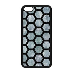 Hexagon2 Black Marble & Ice Crystals Apple Iphone 5c Seamless Case (black) by trendistuff