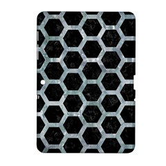 Hexagon2 Black Marble & Ice Crystals (r) Samsung Galaxy Tab 2 (10 1 ) P5100 Hardshell Case  by trendistuff