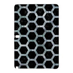 Hexagon2 Black Marble & Ice Crystals (r) Samsung Galaxy Tab Pro 12 2 Hardshell Case by trendistuff