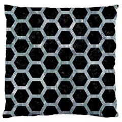 Hexagon2 Black Marble & Ice Crystals (r) Standard Flano Cushion Case (two Sides) by trendistuff