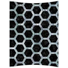 Hexagon2 Black Marble & Ice Crystals (r) Back Support Cushion