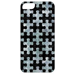 Puzzle1 Black Marble & Ice Crystals Apple Iphone 5 Classic Hardshell Case by trendistuff