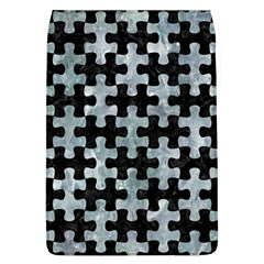 Puzzle1 Black Marble & Ice Crystals Flap Covers (l)  by trendistuff
