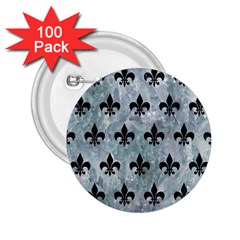 Royal1 Black Marble & Ice Crystals (r) 2 25  Buttons (100 Pack)