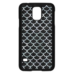 Scales1 Black Marble & Ice Crystals (r) Samsung Galaxy S5 Case (black) by trendistuff