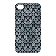 Scales2 Black Marble & Ice Crystals Apple Iphone 4/4s Hardshell Case by trendistuff