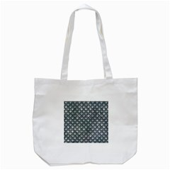 Scales2 Black Marble & Ice Crystals Tote Bag (white)