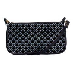 Scales2 Black Marble & Ice Crystals (r) Shoulder Clutch Bags by trendistuff