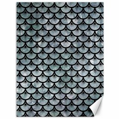 Scales3 Black Marble & Ice Crystals Canvas 36  X 48   by trendistuff