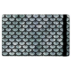 Scales3 Black Marble & Ice Crystals Apple Ipad 3/4 Flip Case by trendistuff