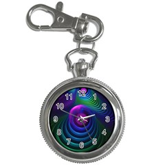Beautiful Rainbow Marble Fractals In Hyperspace Key Chain Watches by jayaprime