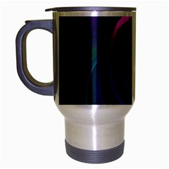 Beautiful Rainbow Marble Fractals In Hyperspace Travel Mug (silver Gray) by jayaprime