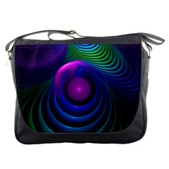 Beautiful Rainbow Marble Fractals In Hyperspace Messenger Bags