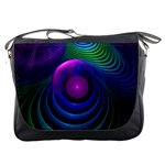 Beautiful Rainbow Marble Fractals in Hyperspace Messenger Bags Front