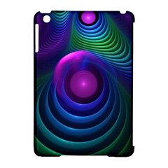 Beautiful Rainbow Marble Fractals In Hyperspace Apple Ipad Mini Hardshell Case (compatible With Smart Cover) by jayaprime
