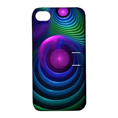 Beautiful Rainbow Marble Fractals In Hyperspace Apple Iphone 4/4s Hardshell Case With Stand by jayaprime