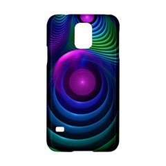 Beautiful Rainbow Marble Fractals In Hyperspace Samsung Galaxy S5 Hardshell Case  by jayaprime