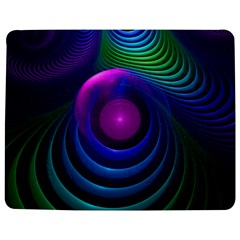 Beautiful Rainbow Marble Fractals In Hyperspace Jigsaw Puzzle Photo Stand (rectangular) by jayaprime