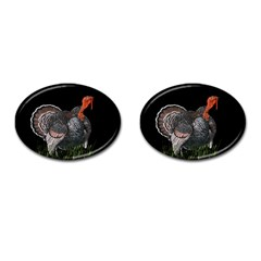 Thanksgiving Turkey Cufflinks (oval) by Valentinaart