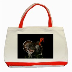Thanksgiving Turkey Classic Tote Bag (red) by Valentinaart