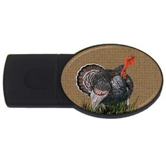 Thanksgiving Turkey Usb Flash Drive Oval (4 Gb)