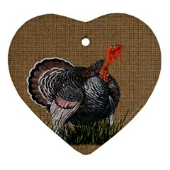 Thanksgiving Turkey Heart Ornament (two Sides) by Valentinaart