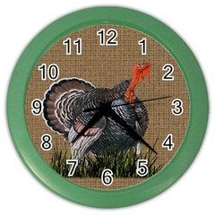 Thanksgiving Turkey Color Wall Clocks by Valentinaart