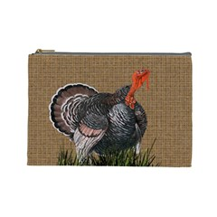 Thanksgiving Turkey Cosmetic Bag (large)  by Valentinaart