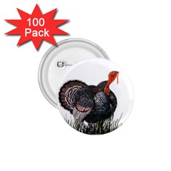 Thanksgiving Turkey 1 75  Buttons (100 Pack)  by Valentinaart