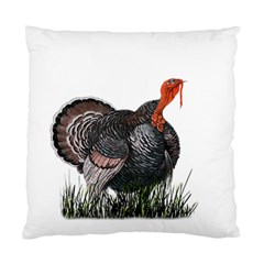 Thanksgiving Turkey Standard Cushion Case (two Sides) by Valentinaart