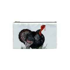 Thanksgiving Turkey Cosmetic Bag (small)  by Valentinaart