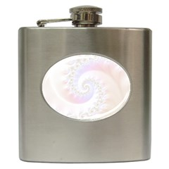 Mother Of Pearls Luxurious Fractal Spiral Necklace Hip Flask (6 Oz) by jayaprime