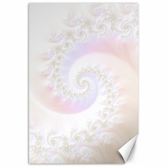 Mother Of Pearls Luxurious Fractal Spiral Necklace Canvas 12  X 18   by jayaprime